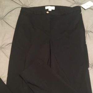 Michael Kors crisp black stretch dress pants.
